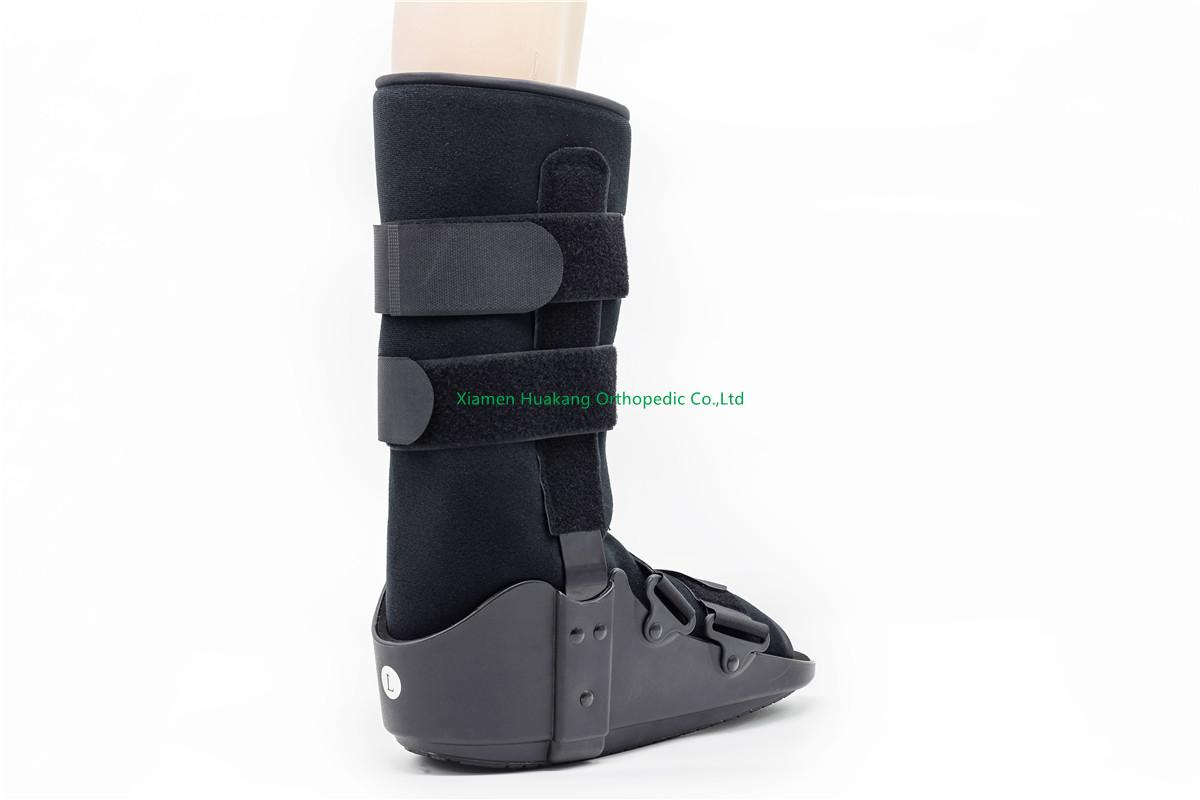 tall or short pneumatic walking boot braces