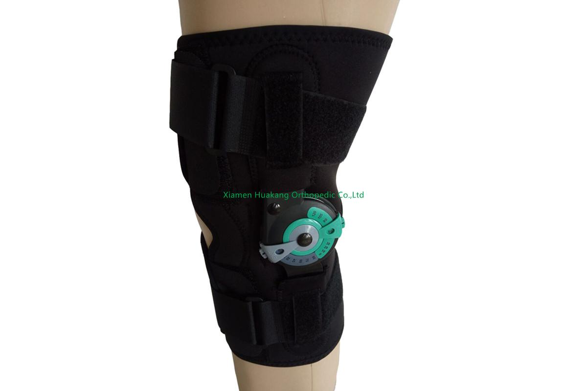 Neoprene ACL hinged knee wraparound