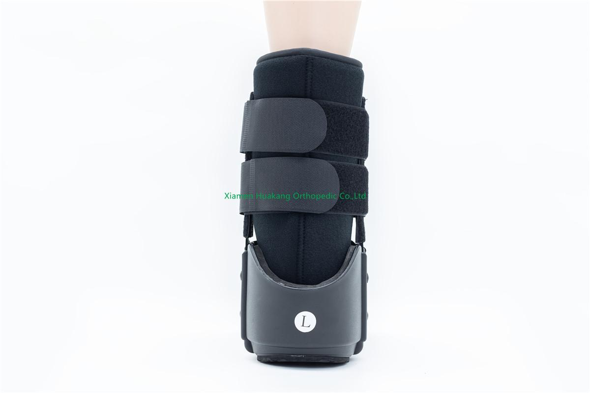 Aluminum bar walking boot for ankle braces