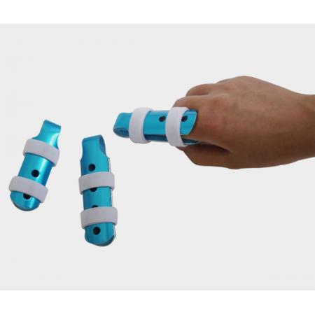 Customized aluminum laced-up finger cots splints